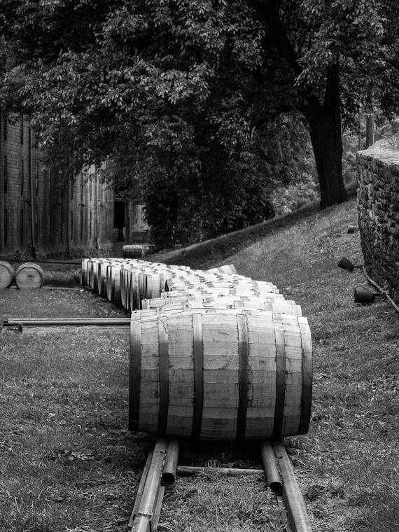 Buffalo Trace Whiskey Distillery Rickhouse Bourbon Barrels Wall Art 8x10 Matted Photographic Print Bar or Pub Decor