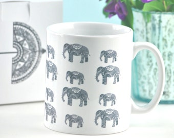 Elephant Family Mug With Optional Gift Box