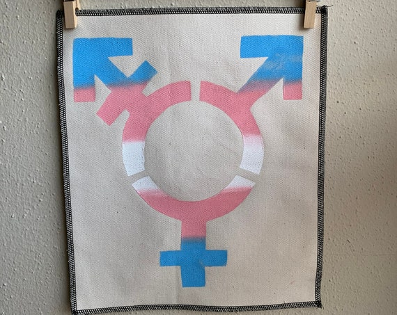 Trans Flag Trans Symbol Back Patch