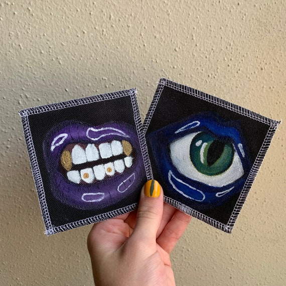 Mouth Patches Hand Painted by Xvangeline