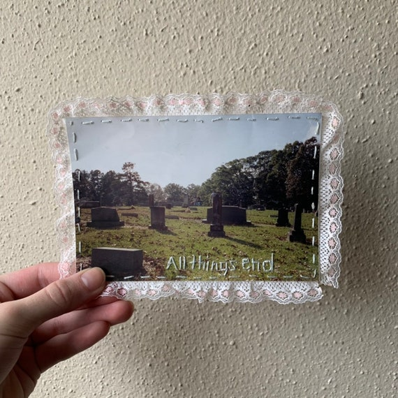 All Things End Embroidered Photo