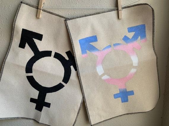 MESS UP Trans Symbol Back Patch - Natural