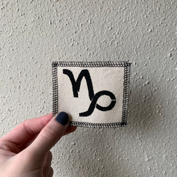 Capricorn Symbol Patch