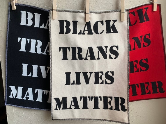 Black Trans Lives Matter Back Patch
