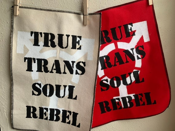 True Trans Soul Rebel Layered Back Patch
