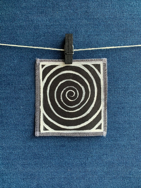 Spiral Patch Hand Painted by V