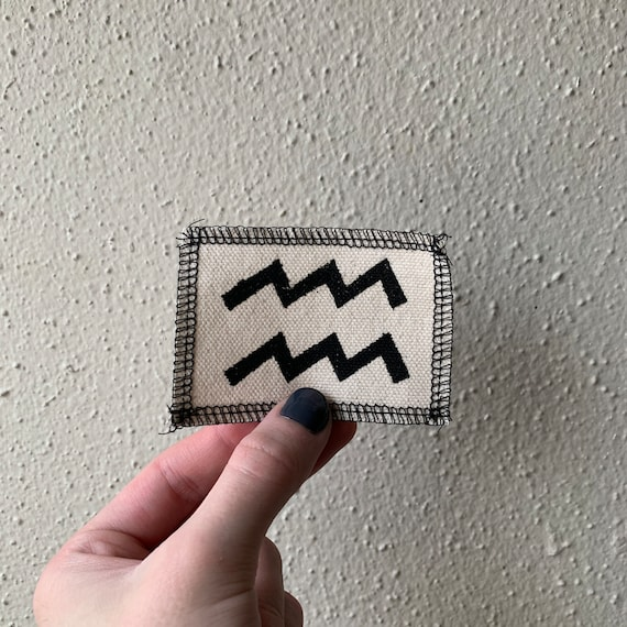 Aquarius Symbol Patch