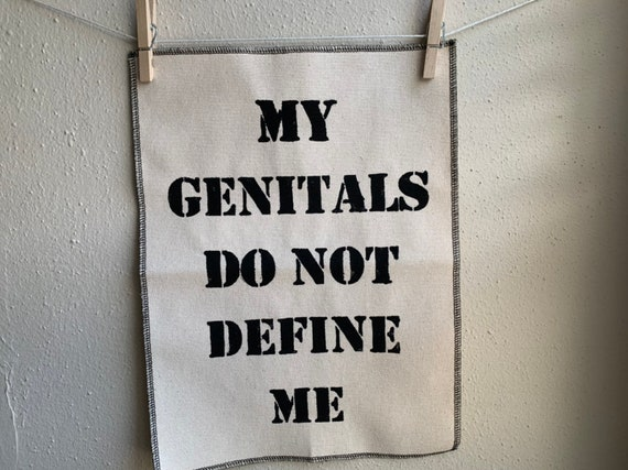 My Genitals Do Not Define Me Back Patch - Natural