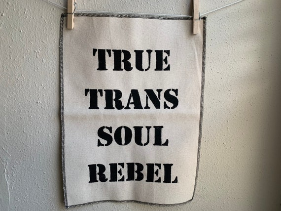 True Trans Soul Rebel Back Patch - Natural