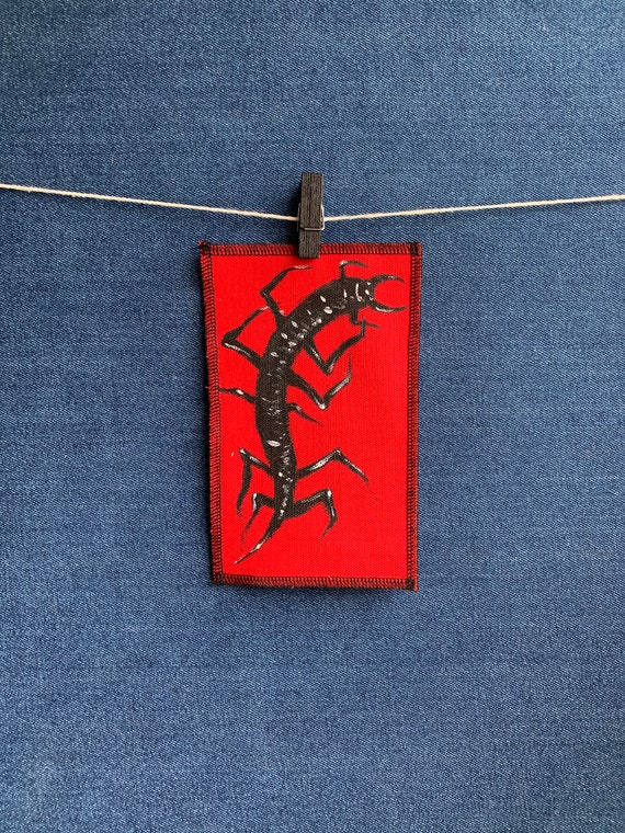 Crawling Centipede Patch Hand Painted by V