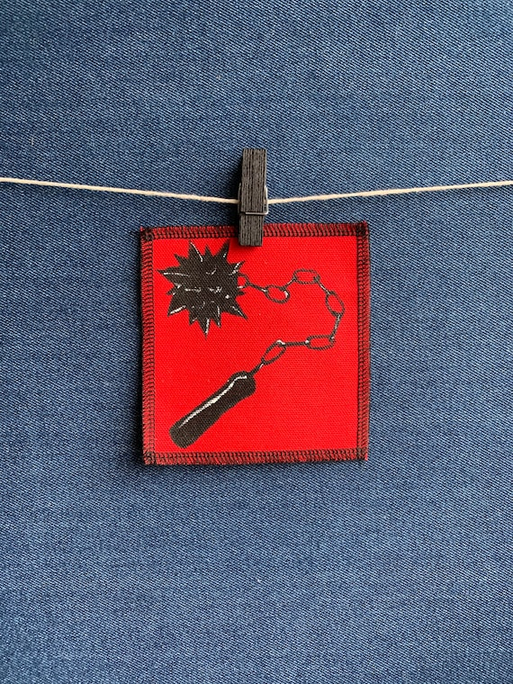 Morning Star Flail Patch Hand Painted by V
