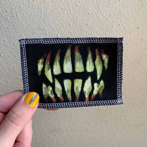 Teeth Patch Hand Painted by V