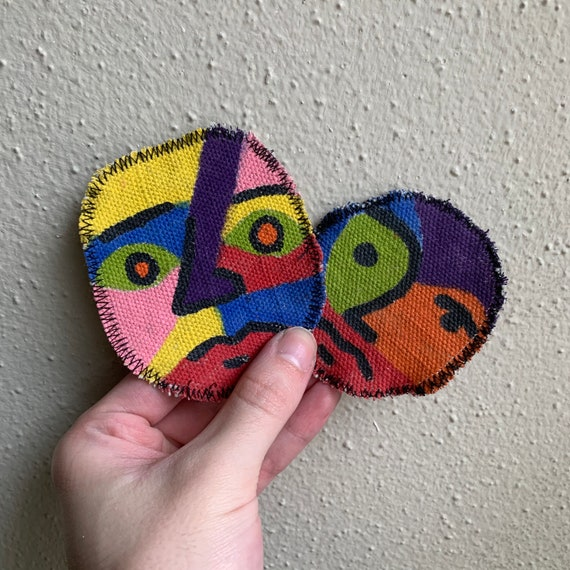 Face Patch Hand Painted by Mason Slay