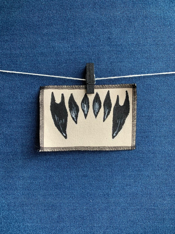 Monster Teeth Patch Hand Painted by V
