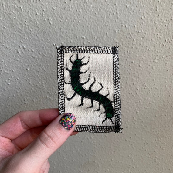 Small Centipede Patch Hand Painted By V