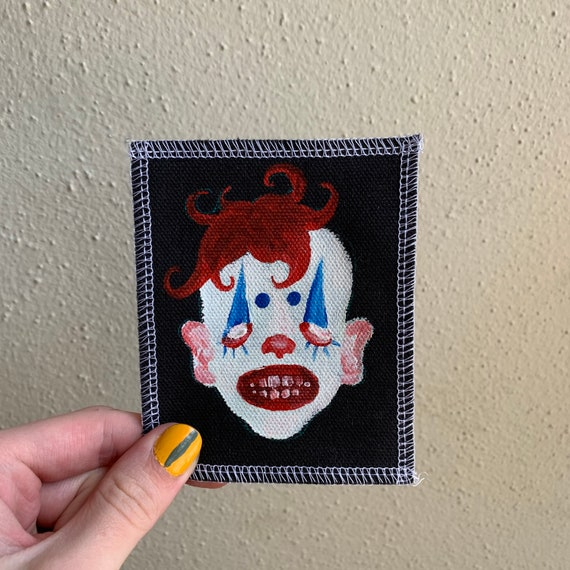 Clown Patch Hand Painted by V