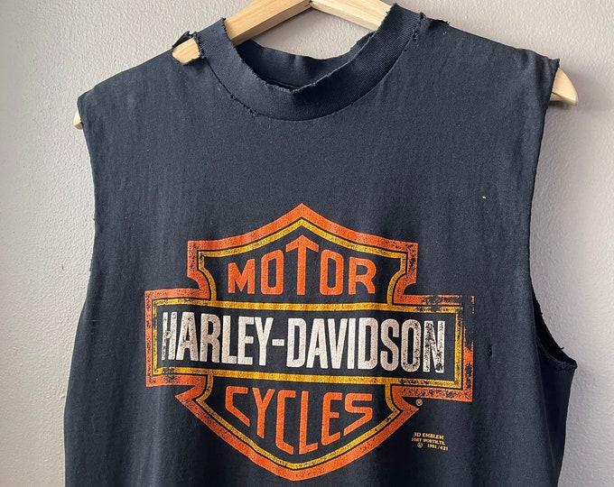 90s Vintage Harley Davidson Distressed Tank Top