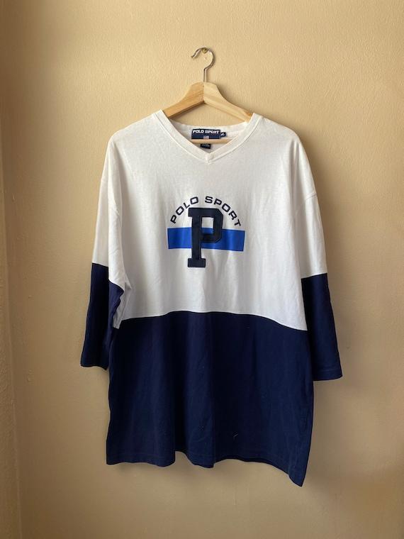 Vintage 1990s Polo Sport 3/4 Sleeve Jersey