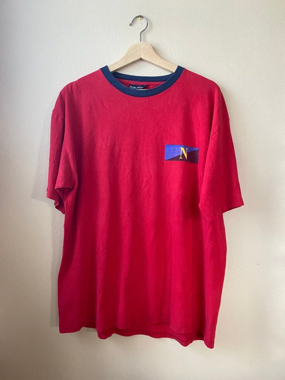 Vintage 1990s Nautica Double Sided Graphic T-Shirt