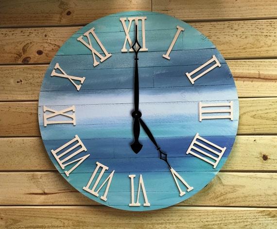 Einzigartige Große Uhr Reclaimed Holz Uhr Wanduhr Uhr | Etsy