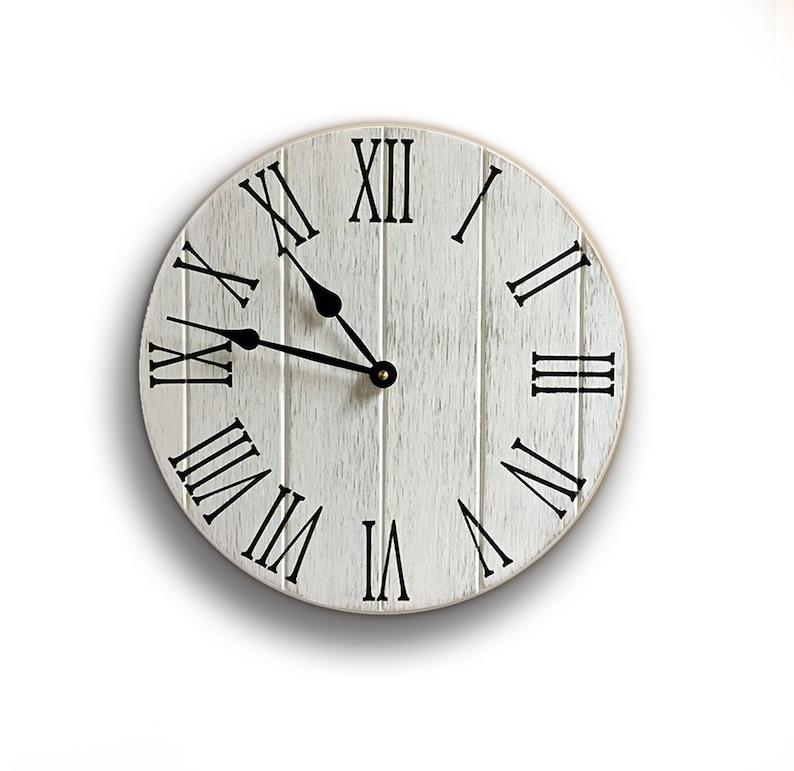 Rustic Farmhouse Kitchen Clock 12 Diameter Rustic Kitchen Decor Kitchen Remodel Kitchen Clocks