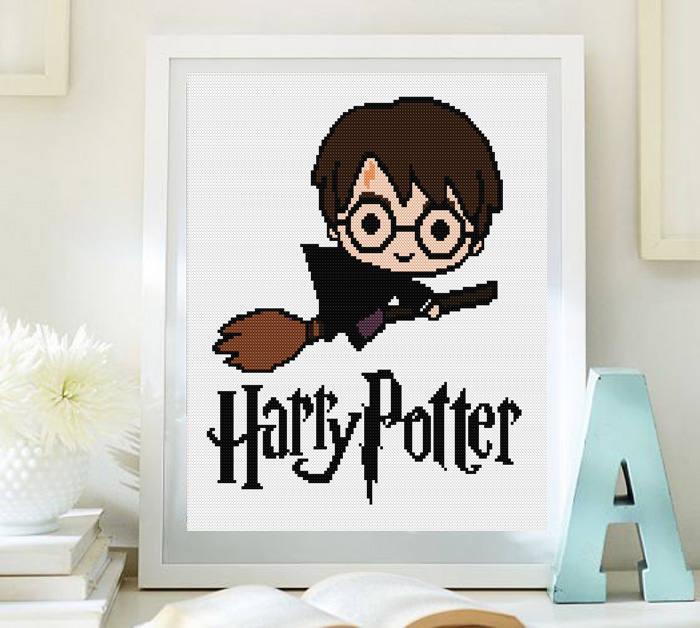 Cross stitch pattern modern. Harry Potter Harry Potter cross | Etsy