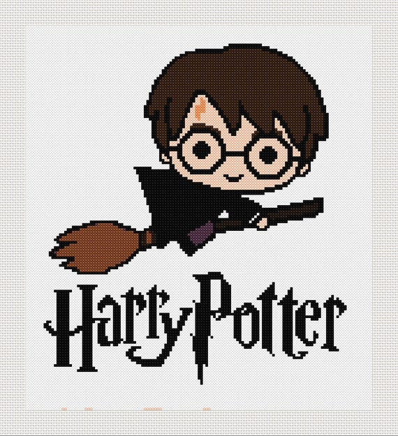 Cross stitch pattern modern. Harry Potter Harry Potter cross | Etsy
