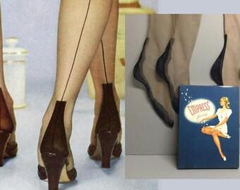 8550032bc19 Unusual Vintage Seamed Stockings