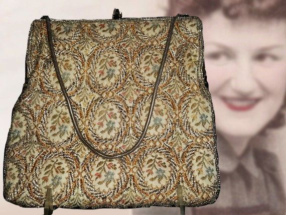 Elegant Vintage Walborg Beaded Evening Bag, Circa