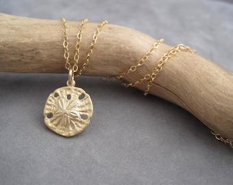 Sand Dollar Pendant - Gold - Beach Inspired Jewelry - Summer Style - Gold Sand Dollar - Sand Dollar  Charm