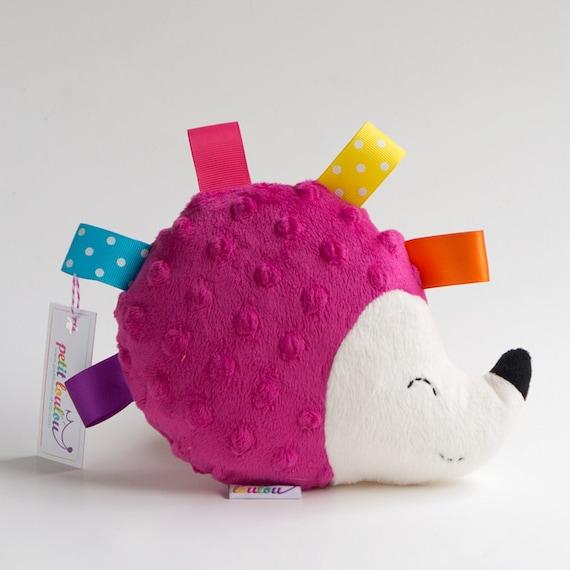 Fuschia Hedgehog Stuffed Animal Stuffed Hedgehog Etsy