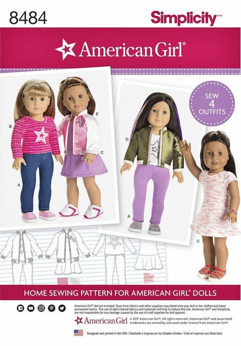 Simplicity Pattern 8484 American Girl Doll 18 Doll Etsy