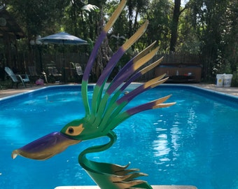 Little Marcelle The Pelican Yard Art Mardi Gras Bird