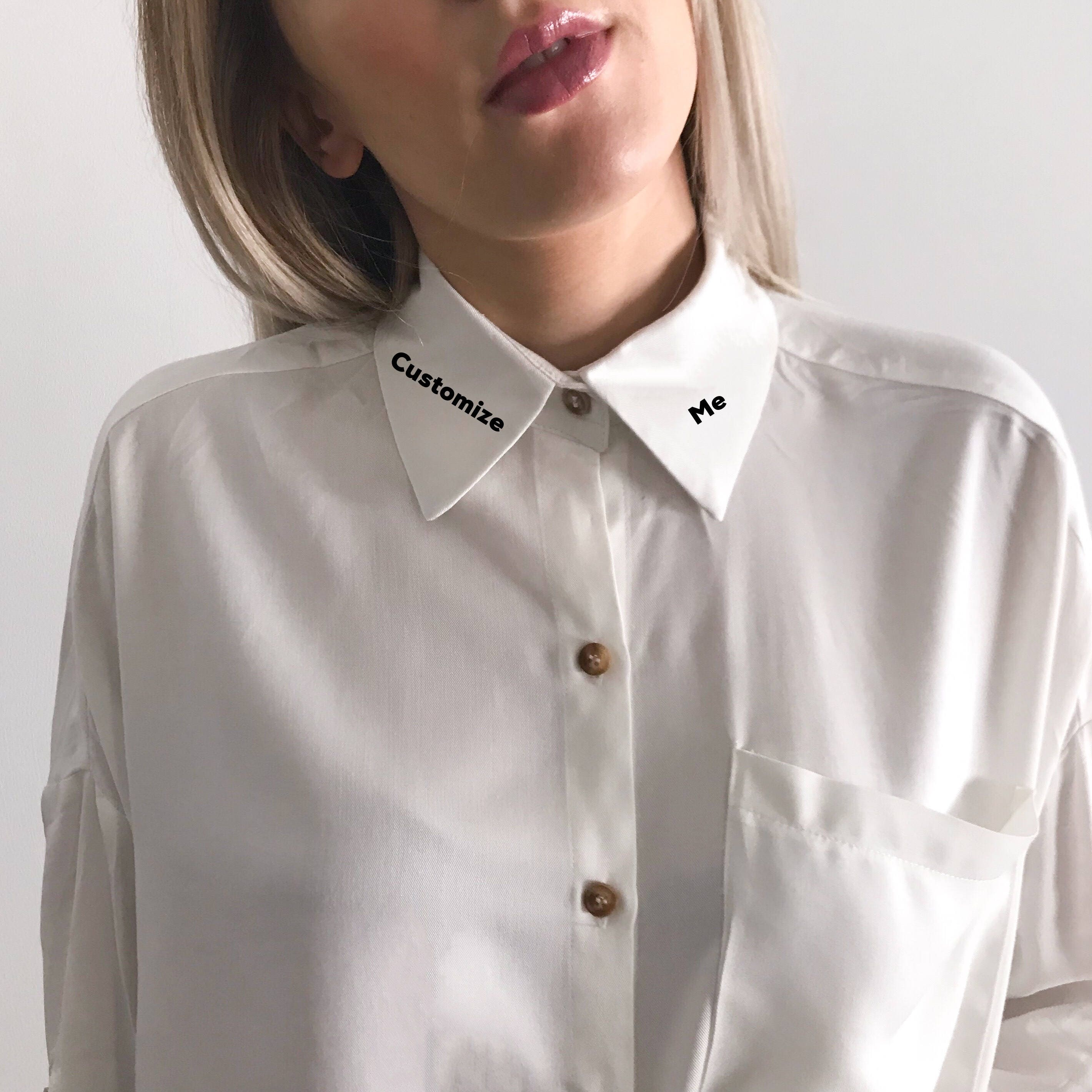 Custom Embroidered Collar Shirt Embroidered Shirt Etsy