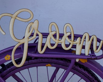 13 inches Bride Groom signs 30 cm Chair signs Wedding chair signs laser cut Bride laser cut groom Wedding signage Custom Hanging signs