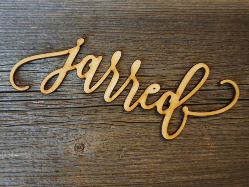 Custom Laser Cut Name sign Place Setting Sign Dinner Party Place Card Wedding Escort Card Modern Calligraphy Party Decoration