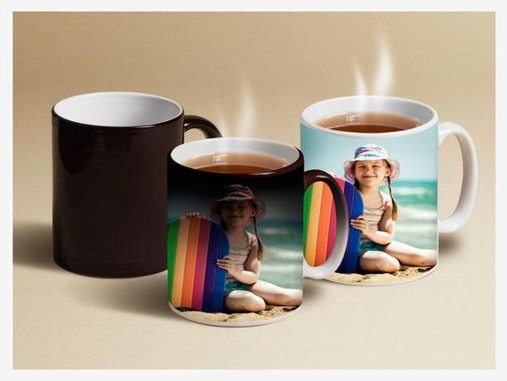 custom photo mug color changing mugs magic mug with etsy
