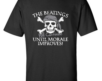 ee041df7 The Beatings Will Continue Until Morale Improves Funny T-Shirt PS_0765W  Kids Novelty Crazy Fun Mens Womens Funny Humor T Shirts