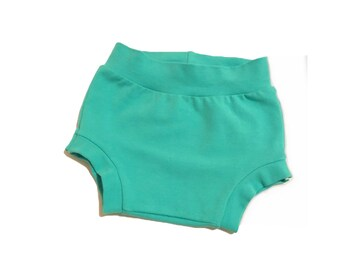 Shorties, bloomers, baby shorties, mint shorties, diaper covers, baby girl bloomers, girl bloomers