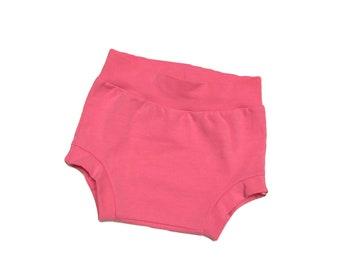 Shorties, bloomers, baby shorties, pink shorties, diaper covers, baby girl bloomers, girl bloomers