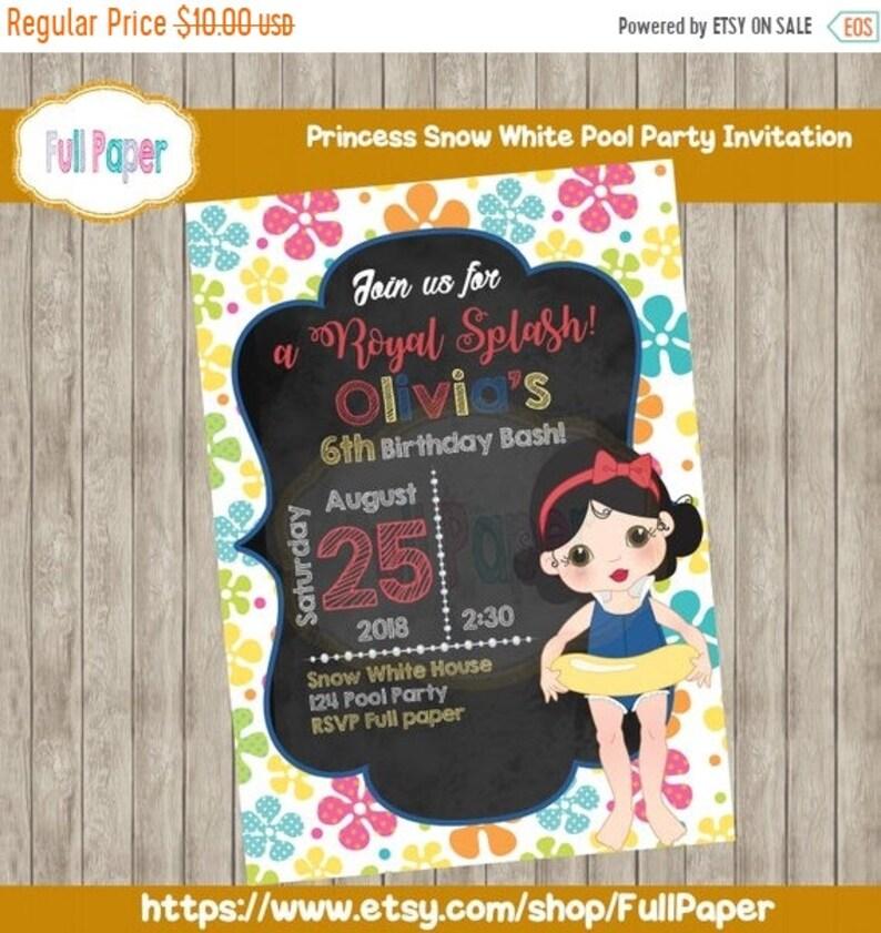 Pool Party Princess Snow White Party Girl Princess Pool Etsy