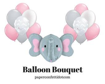 Elephant Balloon Bouquet | Elephant Baby Shower | Elephant Baby Shower Decorations | Elephant Balloon | Elephant Decorations | Baby Shower
