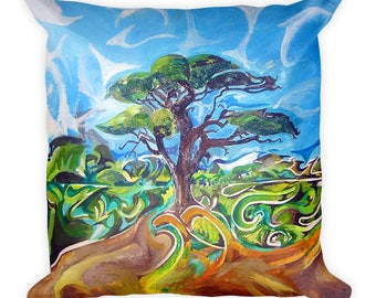 Magical Tree Unique Vibrant Cushion