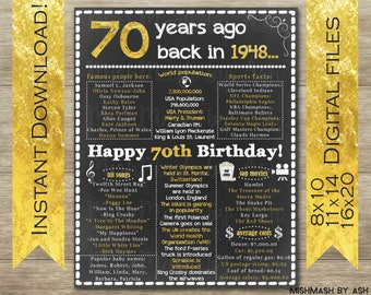 70th birthday etsy