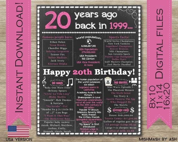 20 Geburtstag Geschenk Fur Sie 20 Geburtstag Dekorationen Etsy