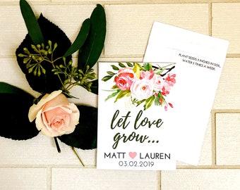 bda611fae6657 Custom Seed Wedding Favors with SEEDS INCLUDED