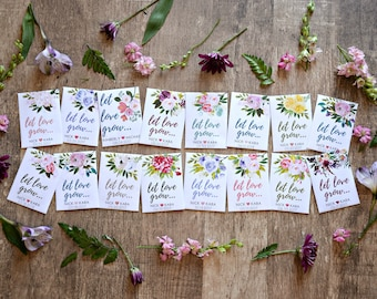 d679eecea Let Love Grow- Custom Seed Wedding Favors SEALED with SEEDS INCLUDED