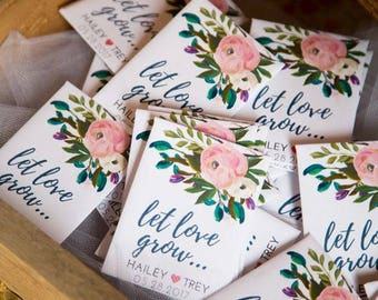 custom seed packets wedding favors party favors bridal shower favors spring wedding summer favors wedding favors favor