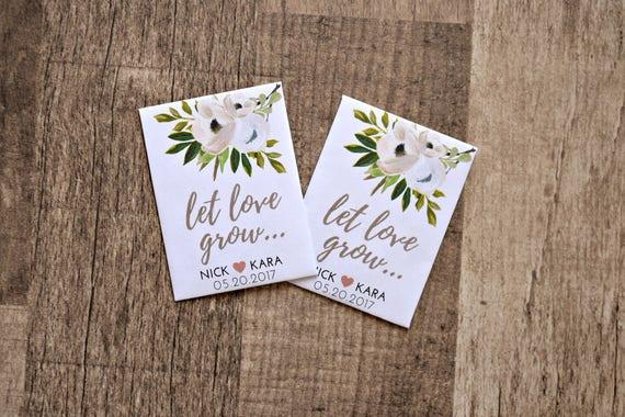 Hochzeitsgeschenke Kundenspezifische Samen Etsy