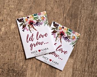 Custom Seed Wedding Favors, Fall Winter Wedding Favors, Seed Packet Favors, Personalized Favors, Wedding Favors Cheap, Bridal Shower Favors